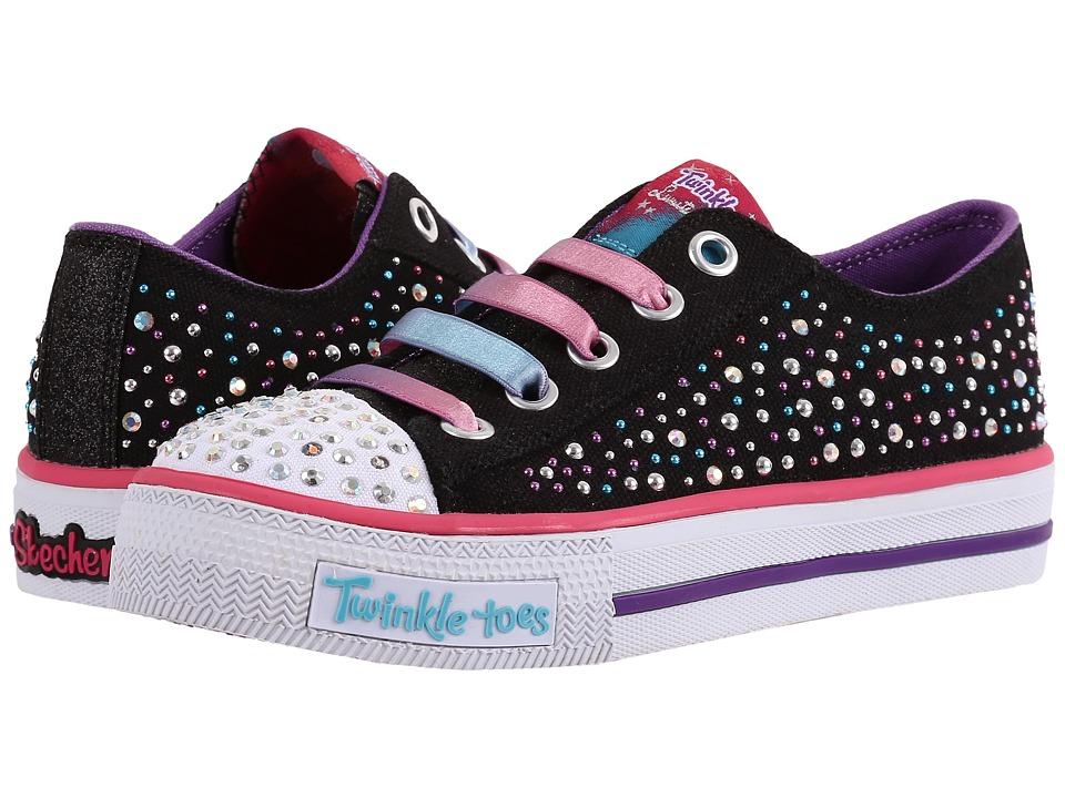 SKECHERS KIDS - Shuffles - 10627L Lights (Little Kid/Big Kid) (Black/Multi) Girl's Shoes