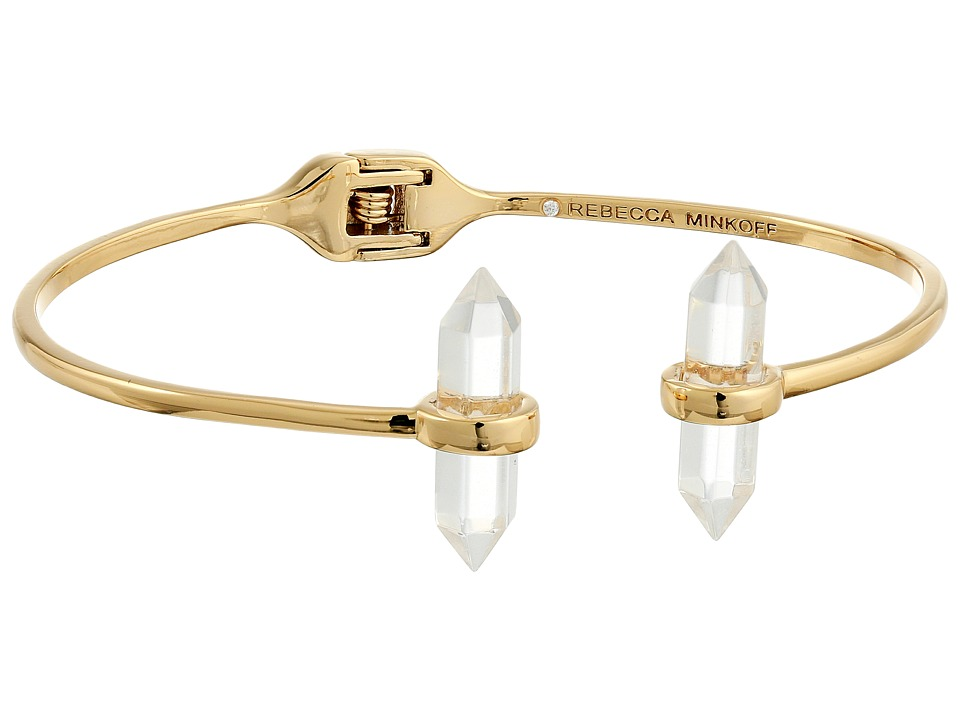 Rebecca Minkoff - Raw Crystal Hinge Bracelet (12K with Crystal) Bracelet