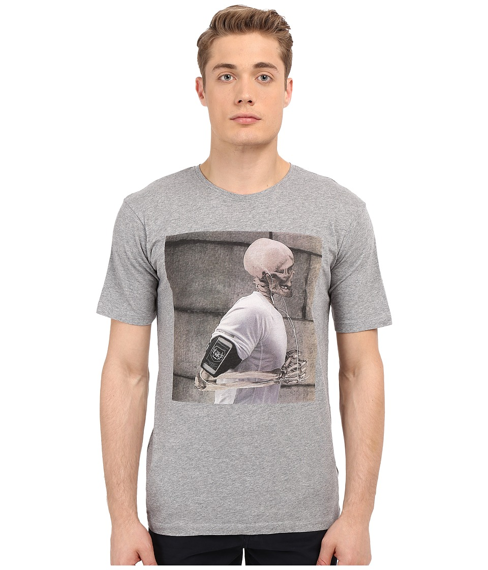 The Kooples - Sport Slub Jersey Skull Runner Tee (Grey) Men's T Shirt