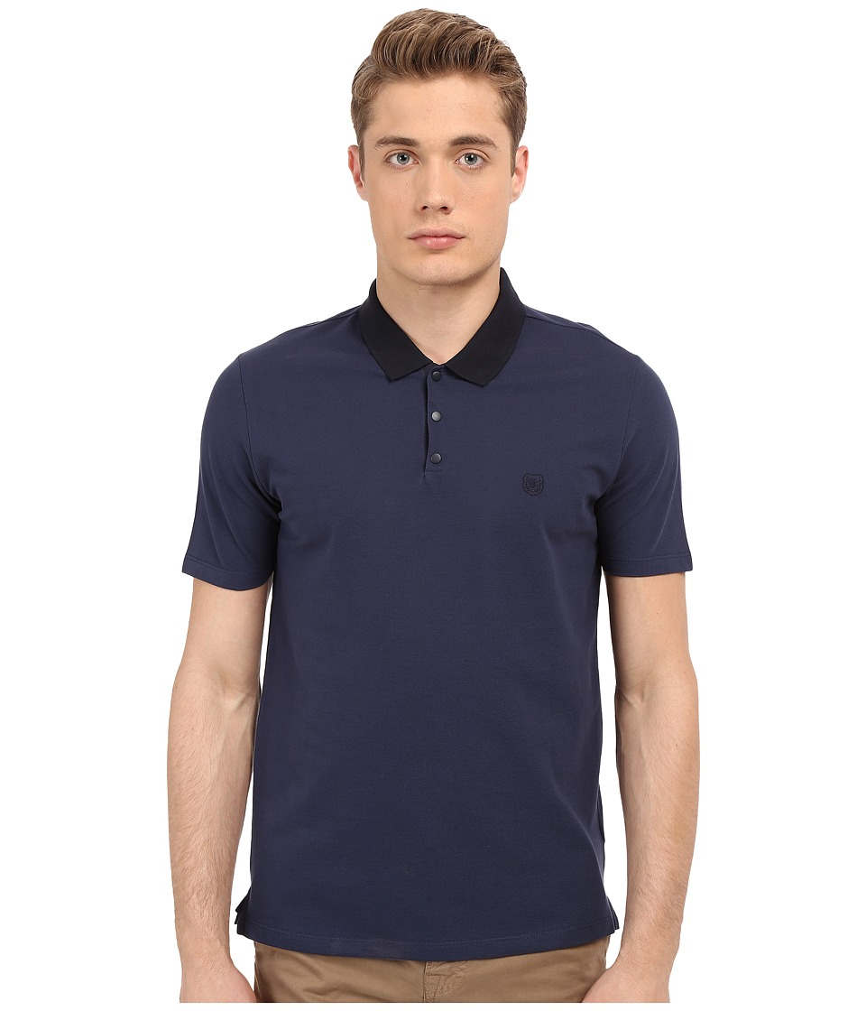 The Kooples - Sport Shiny Pique Polo (Blue) Men's Clothing