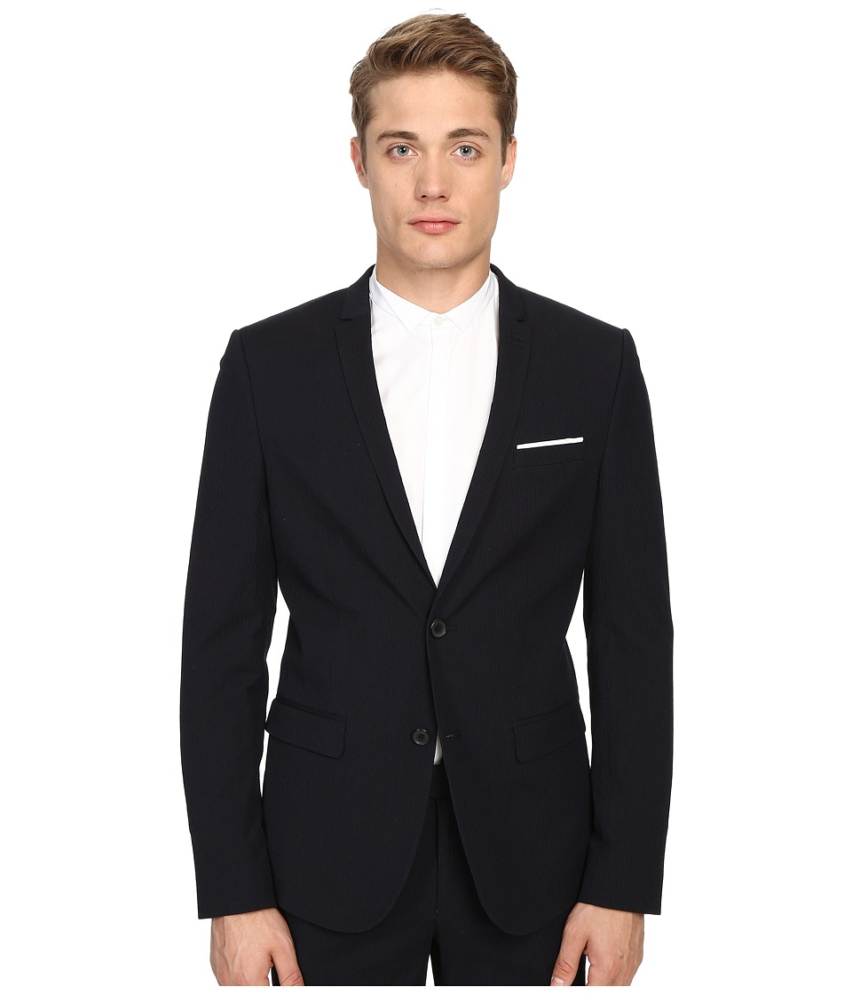 The Kooples - Striped Seersucker Blazer (Blue) Men's Jacket