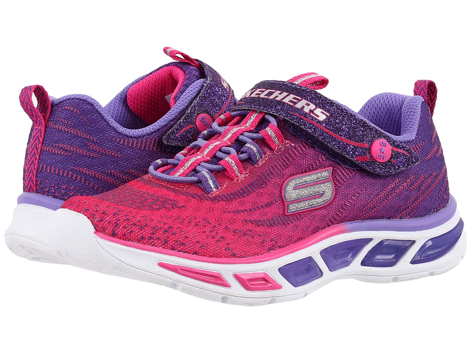 SKECHERS KIDS - Lite Beams 10667L Lights (Little Kid/Big Kid) (Hot Pink/Purple) Girl's Shoes