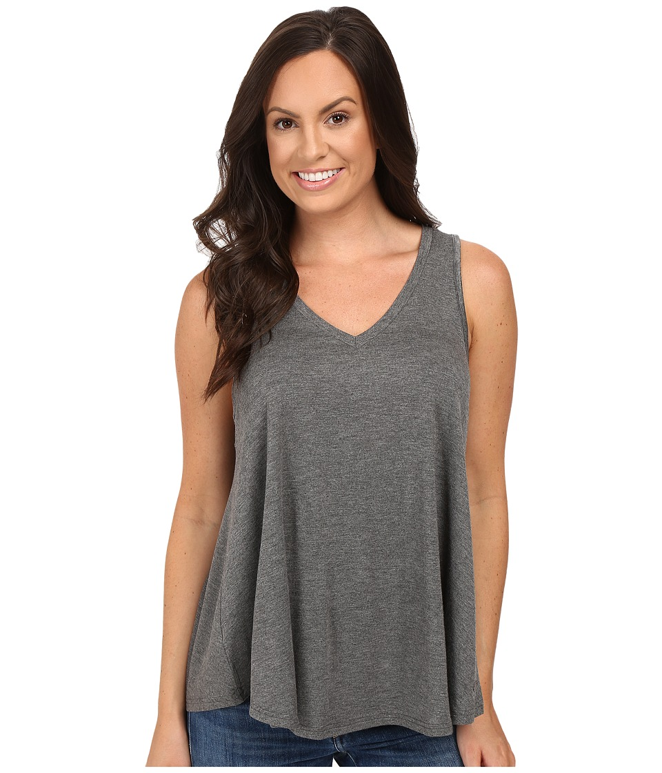 Stetson - Rayon Knit V-Neck Tank Top (Grey) Women's Sleeveless