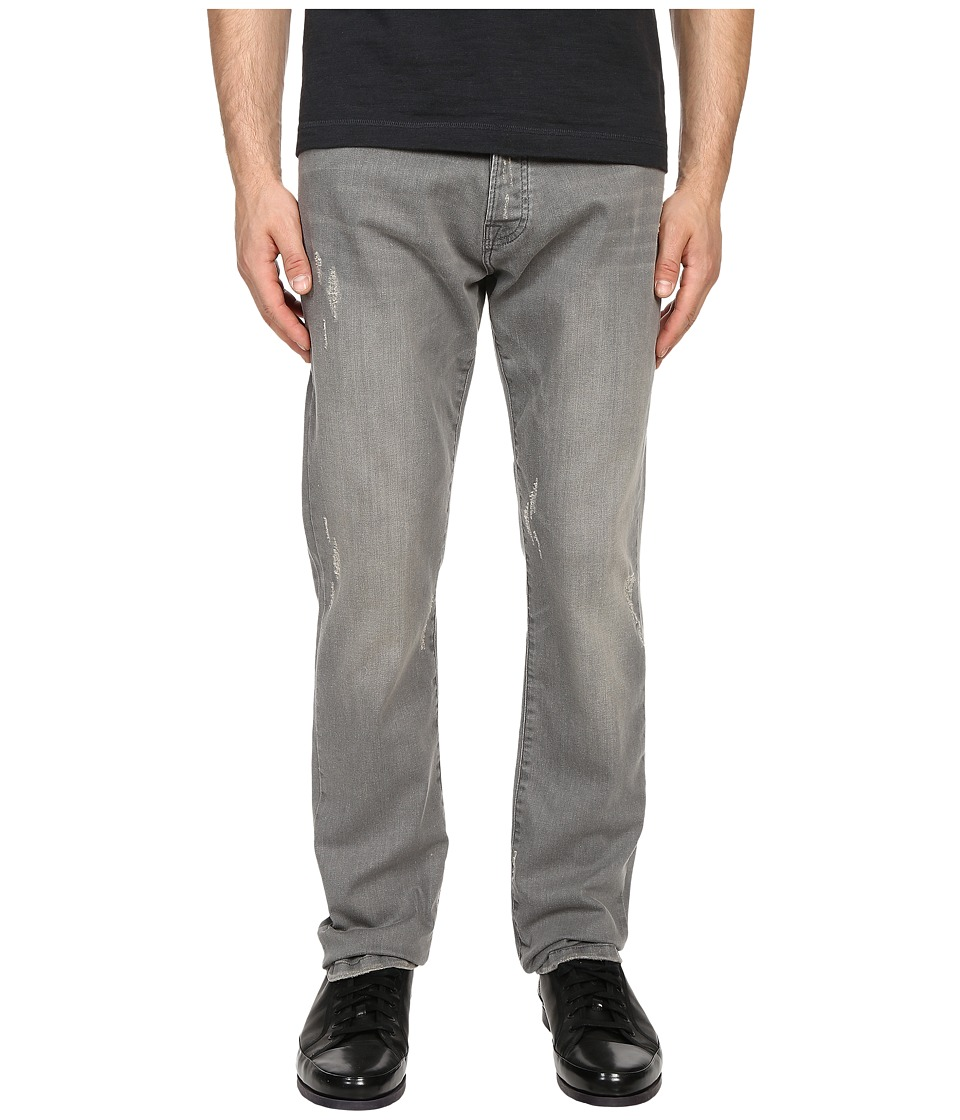 The Kooples - Regular Fit Stretch Denim (Light Grey) Men's Jeans