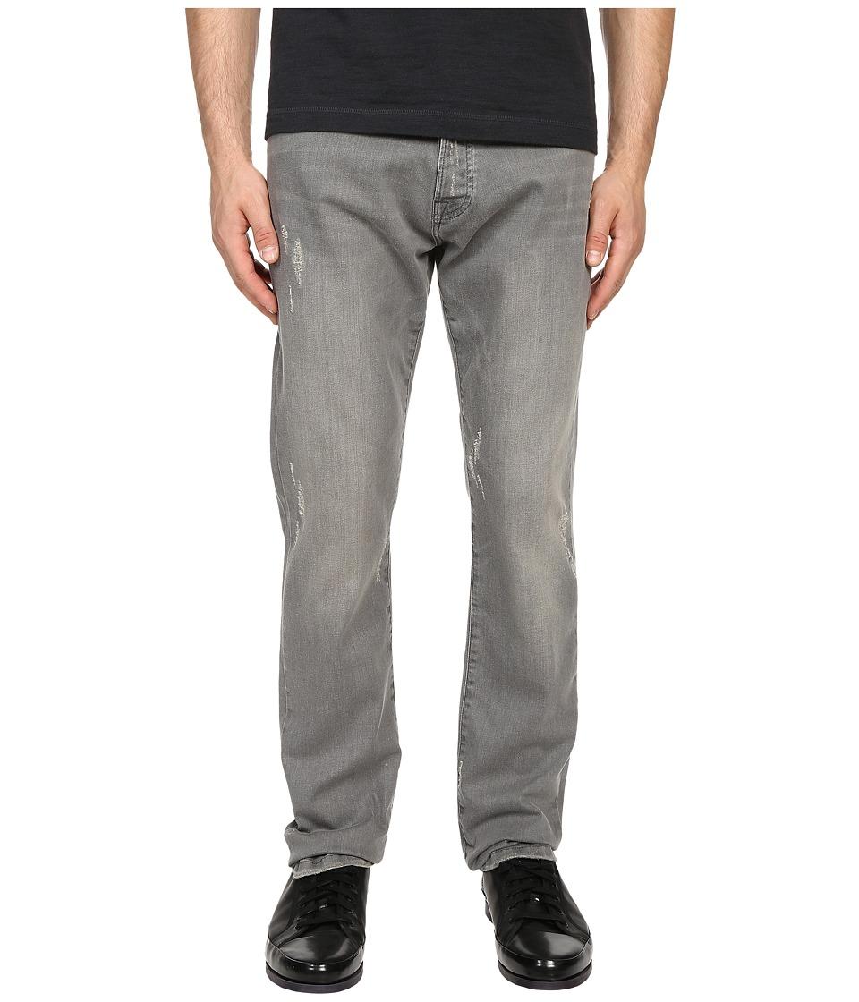 The Kooples - Regular Fit Stretch Denim (Light Grey) Men's Jeans