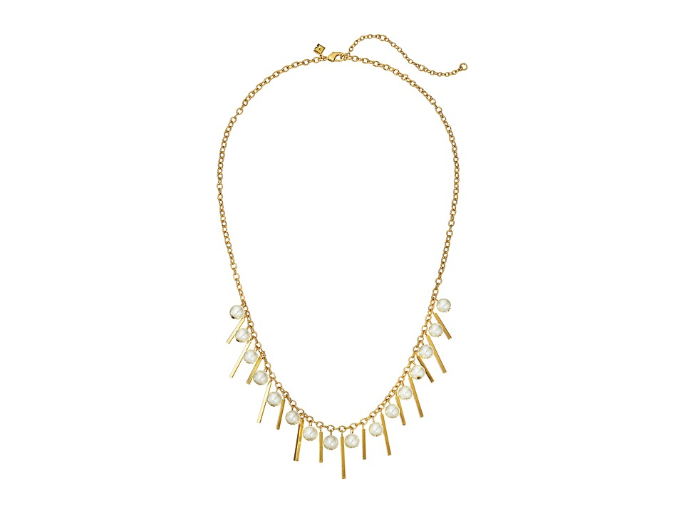Rebecca Minkoff - Bead/Bar Collar Necklace (12K with Pearl) Necklace
