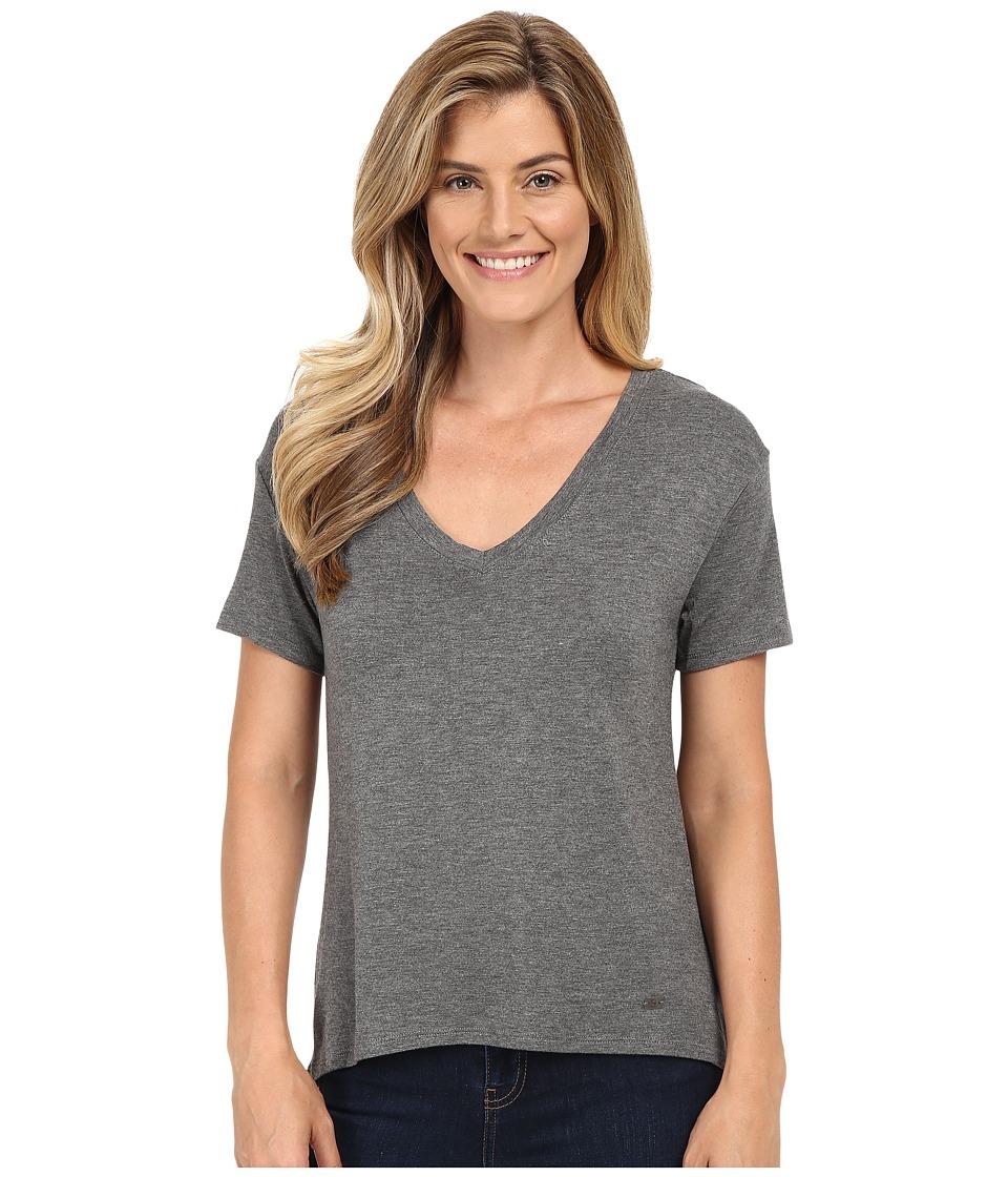 Stetson - Rayon Knit V-Neck Short Sleeve T-Shirt (Grey) Women's T Shirt