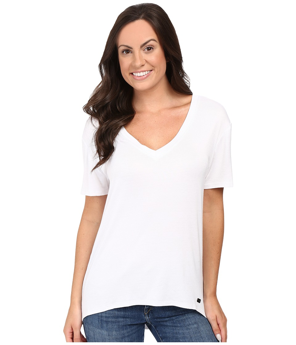 Stetson - Rayon Knit V-Neck Short Sleeve T-Shirt (White) Women's T Shirt