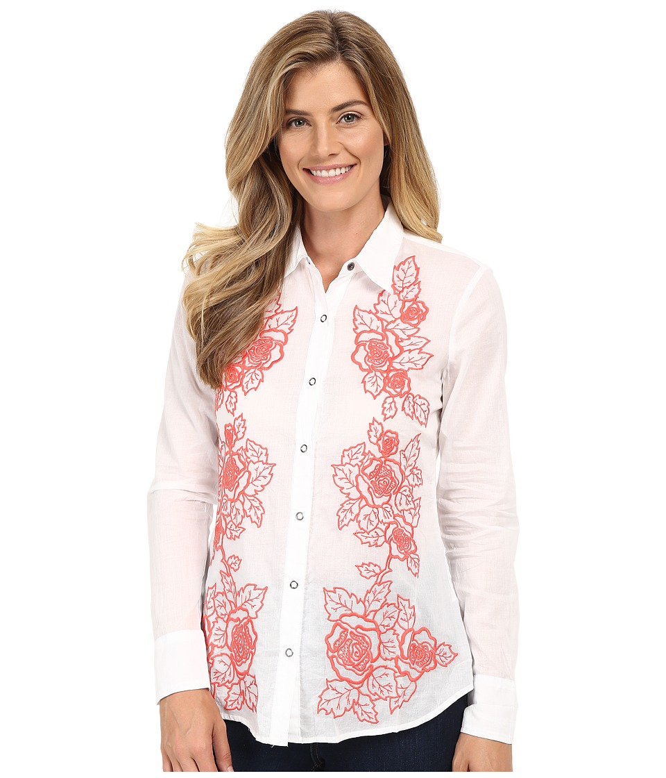 Stetson - White Voile Long Sleeve Woven Shirt (White) Women's Clothing