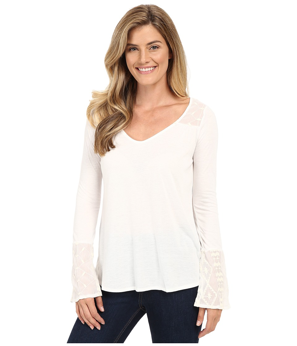 Stetson - Poly Knit Peasant Long Sleeve Knit (White) Women's Clothing