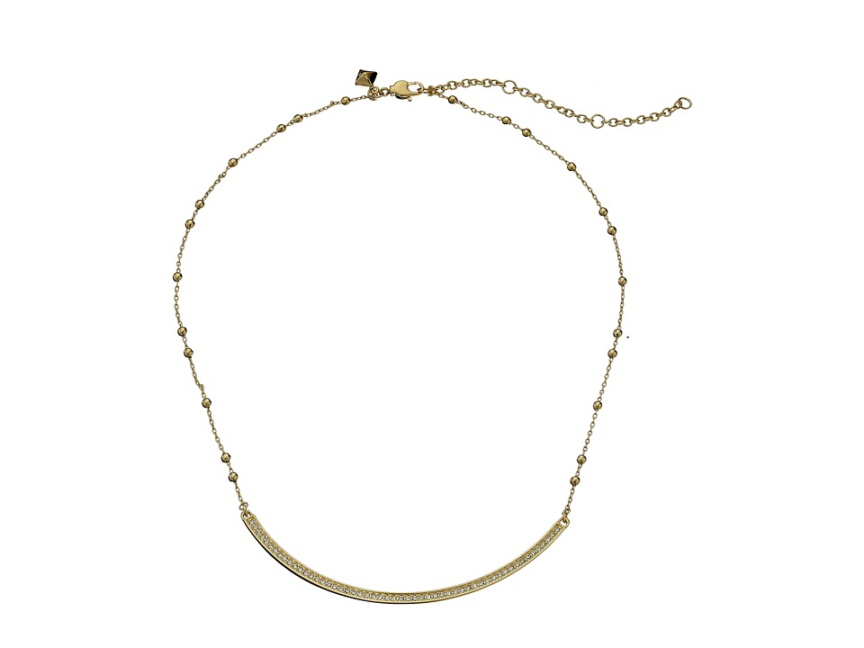 Rebecca Minkoff - Beaded Bar Necklace (12K with Crystal) Necklace