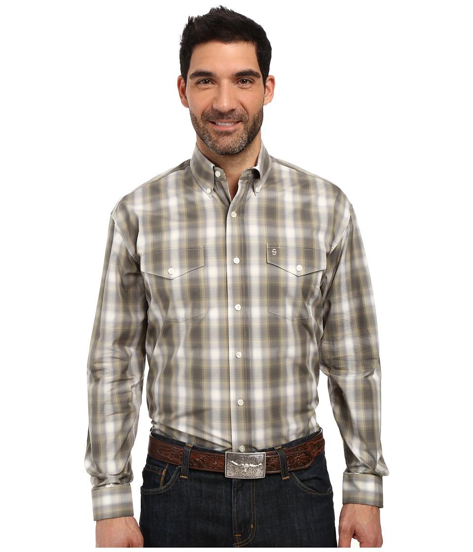 Stetson - Willow Ombre Long Sleeve Woven Button Shirt (Green) Men's Long Sleeve Button Up