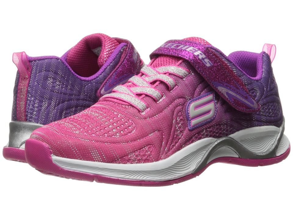 SKECHERS KIDS - Hi Glitz 81127L (Little Kid/Big Kid) (Hot Pink/Purple) Girl's Shoes