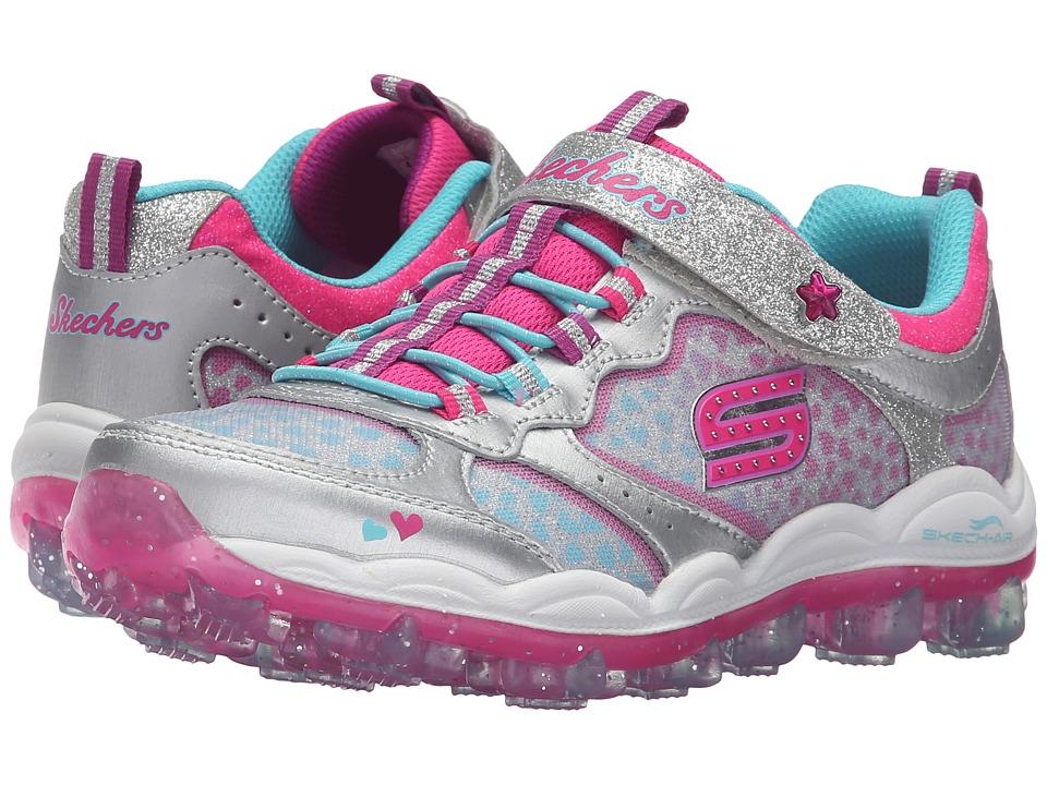 SKECHERS KIDS - Skech Air - Stardust 81295L (Little Kid/Big Kid) (Silver/Multi) Girl's Shoes