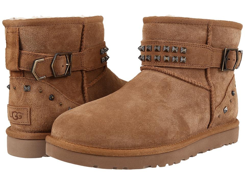 UGG - Neva Deco Studs (Chestnut) Women's Boots