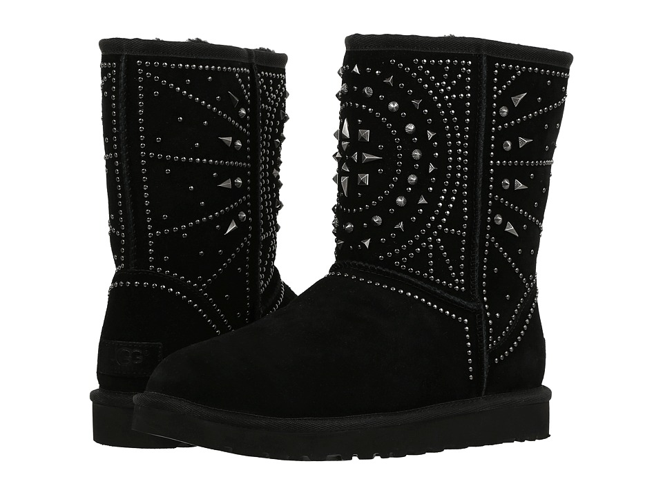 UGG - Fiore Deco Studs (Black) Women's Boots