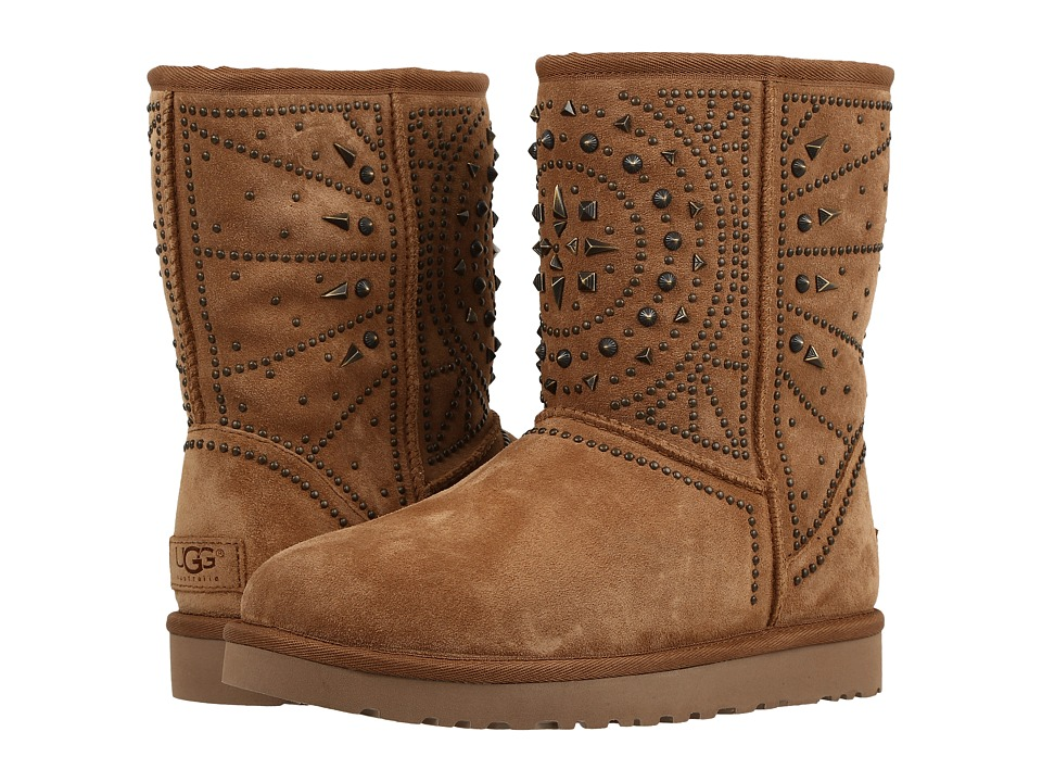 UGG - Fiore Deco Studs (Chestnut) Women's Boots