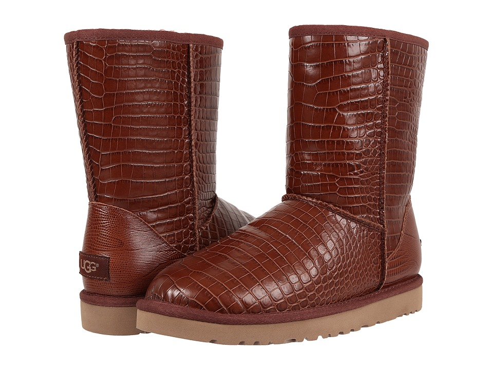 UGG - Classic Short Croco (Spice) Women's Boots