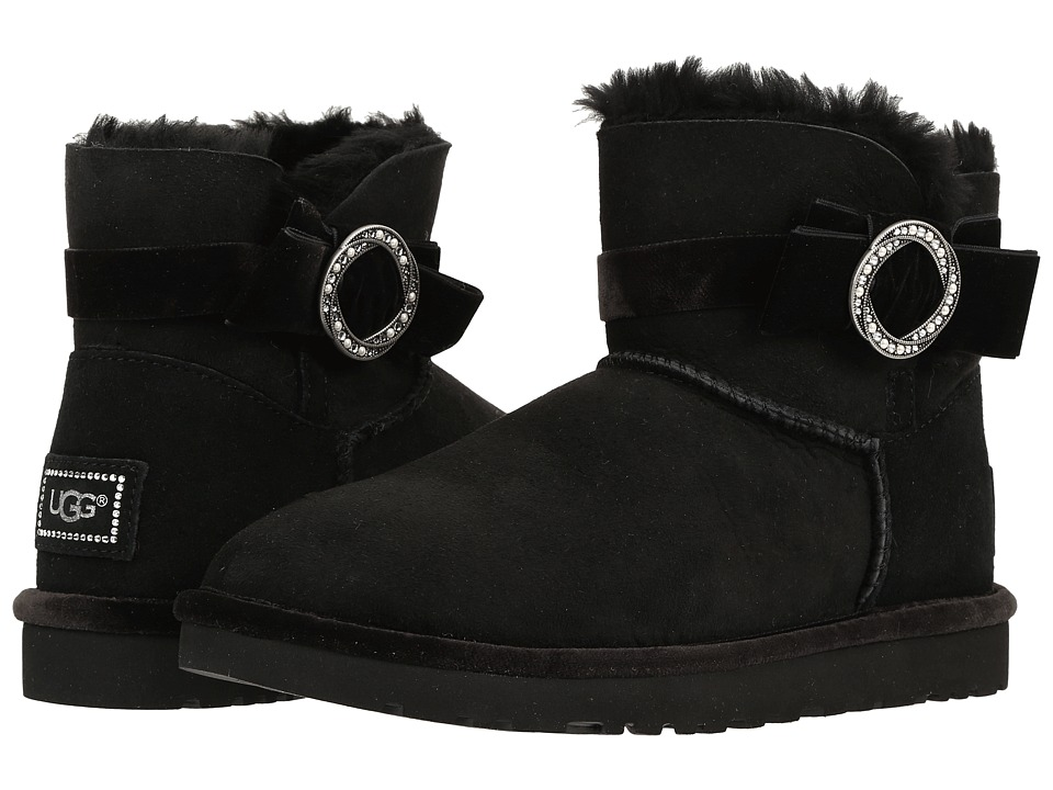 UGG - Karlie Brooch (Black) Women's Boots