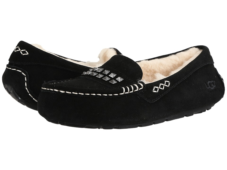 UGG - Ansley Deco Studs (Black) Women's Slippers