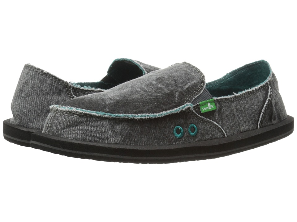 Sanuk - Donna Distressed (Dark Charcoal) Women's Slip on Shoes