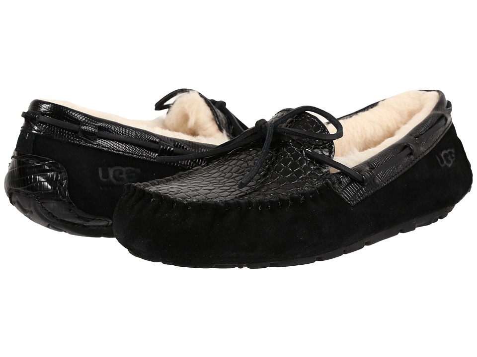 UGG - Dakota Croco (Black) Women's Slippers