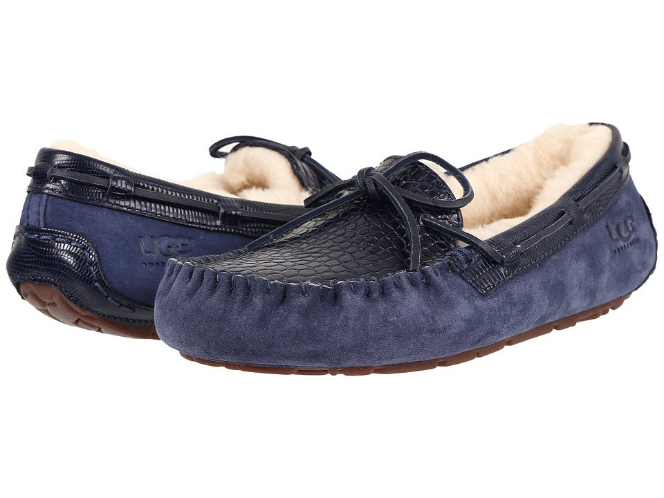 UGG - Dakota Croco (Navy) Women's Slippers