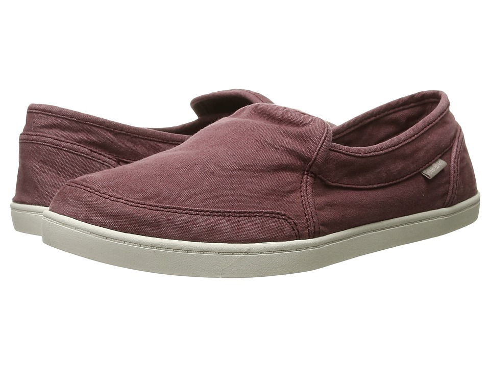 Sanuk - Pair O Dice (Burgundy) Women's Slip on Shoes