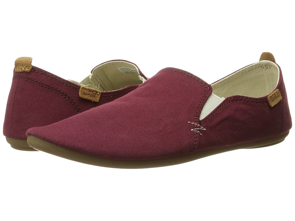 Sanuk - Isabel (Burgundy) Women's Slip on Shoes