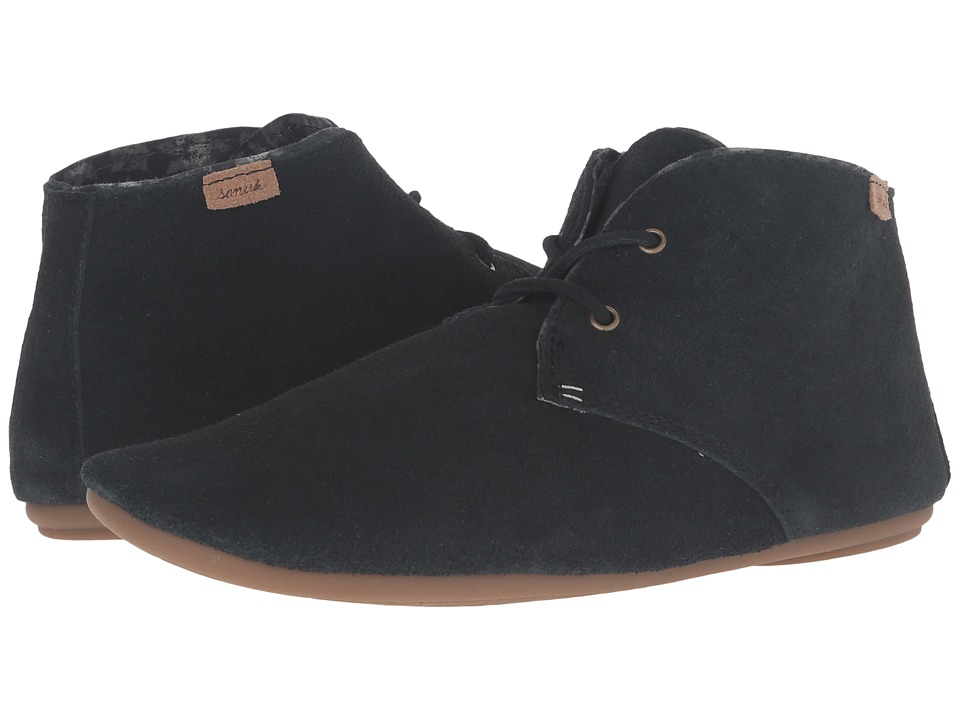 Sanuk - Ivana Chukka (Washed Black) Women's Lace up casual Shoes