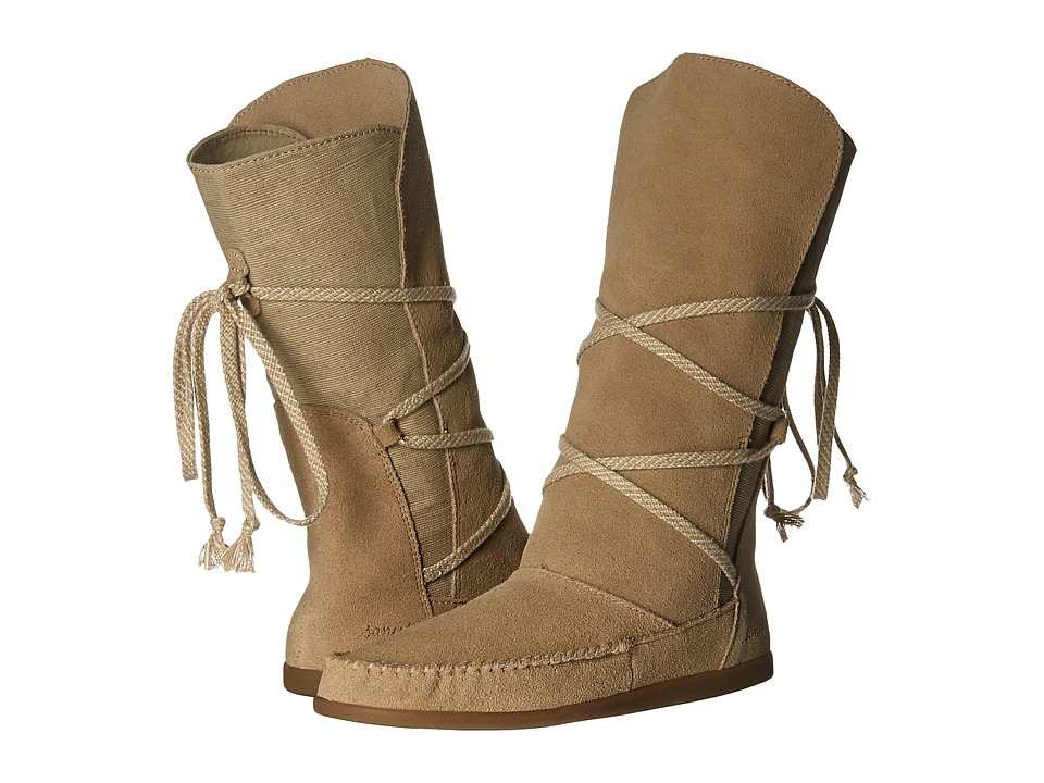 Sanuk - Sangria (Sand) Women's Lace-up Boots