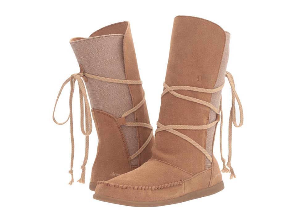 Sanuk - Sangria (Chestnut) Women's Lace-up Boots