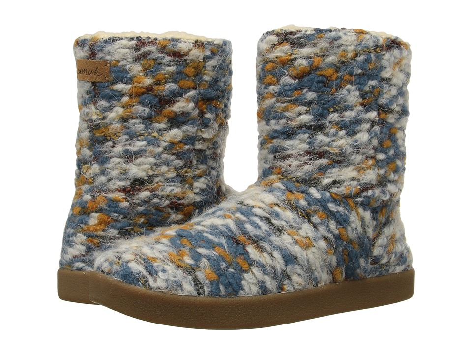 Sanuk - Toasty Tails Short (Dusty Teal Speckle) Women's Pull-on Boots
