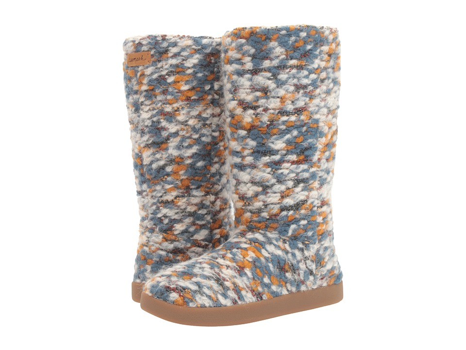 Sanuk - Toasty Tails (Dusty Teal Speckle) Women's Pull-on Boots