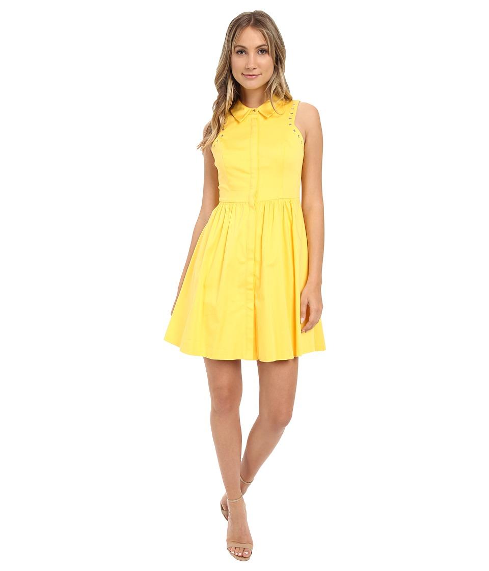 Jessica Simpson Cotton Satin Shirtdress (Buttercup) Women
