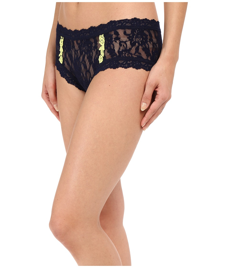 Hanky Panky - Venetian Lace Boyshorts (Navy) Women's Underwear