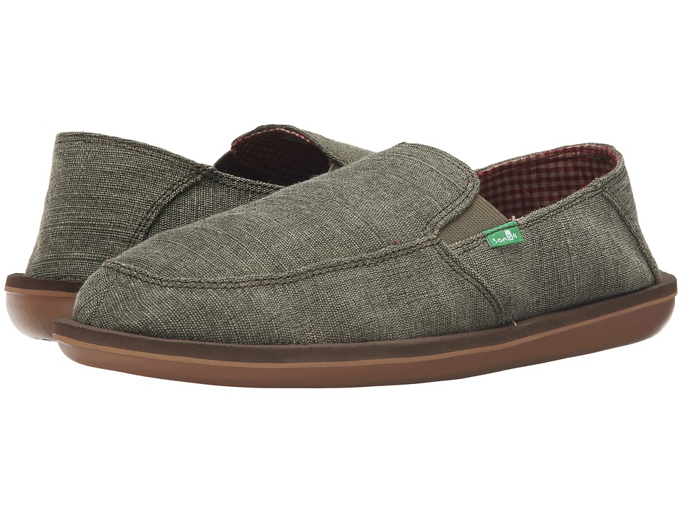 Sanuk - Vice (Olive) Men's Slip on Shoes