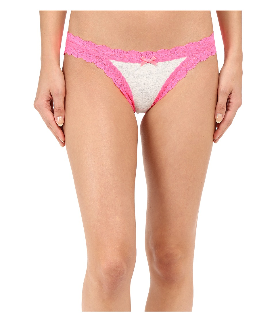 Hanky Panky - Heather Fashion Brazilian Bikini (Light Heather/Sizzle Pink) Women's Underwear