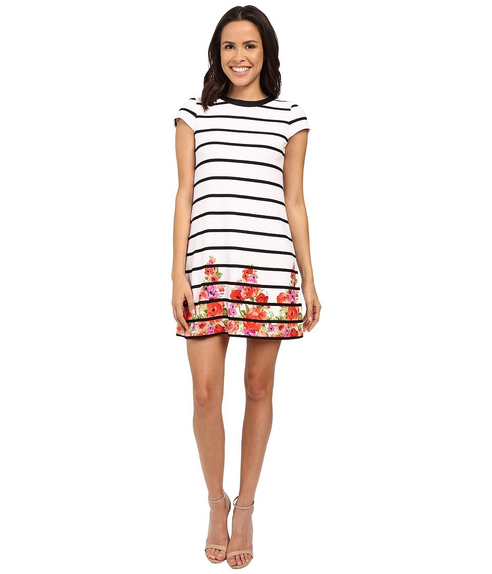 Jessica Simpson Printed Textured Knit Dress JS6D8490 (Print) Women