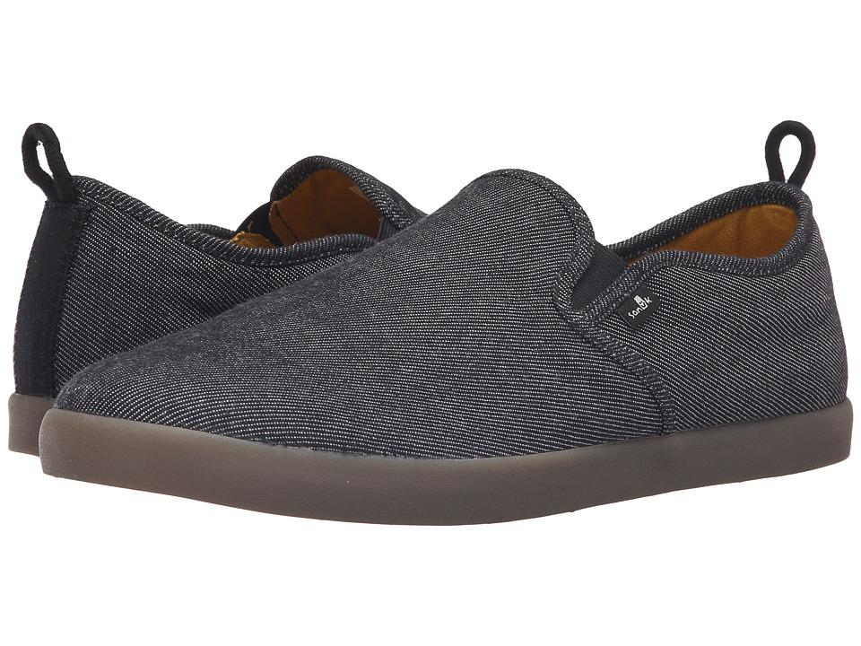 Sanuk - Range TX (Black/Gum) Men's Slip on Shoes