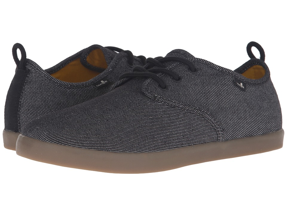 Sanuk - Guide TX (Black/Gum) Men's Lace up casual Shoes