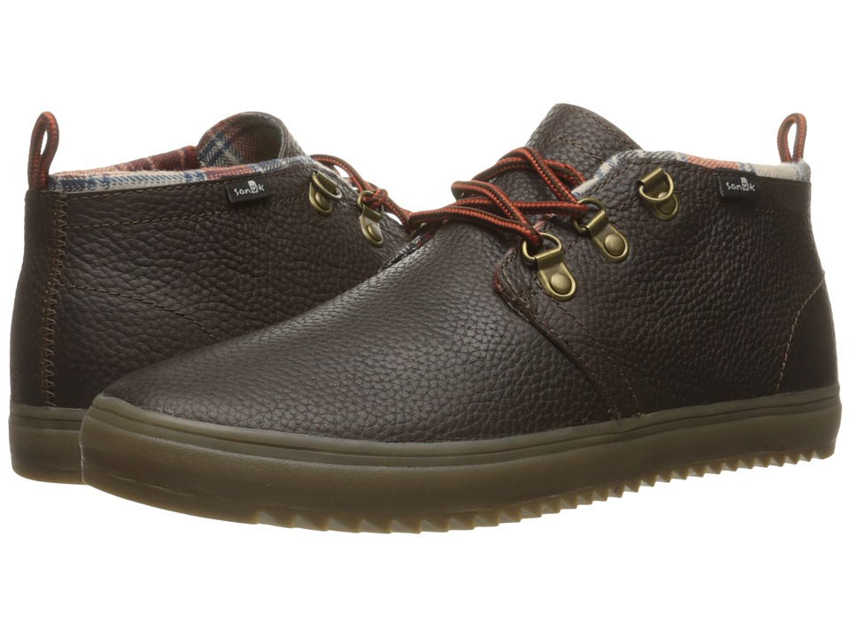 Sanuk - Cargo Deluxe (Dark Brown) Men's Lace up casual Shoes