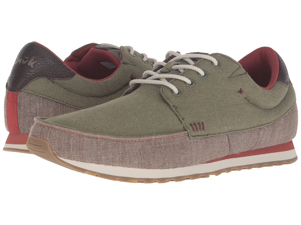 Sanuk - Beer Runner (Olive/Brown) Men's Lace up casual Shoes