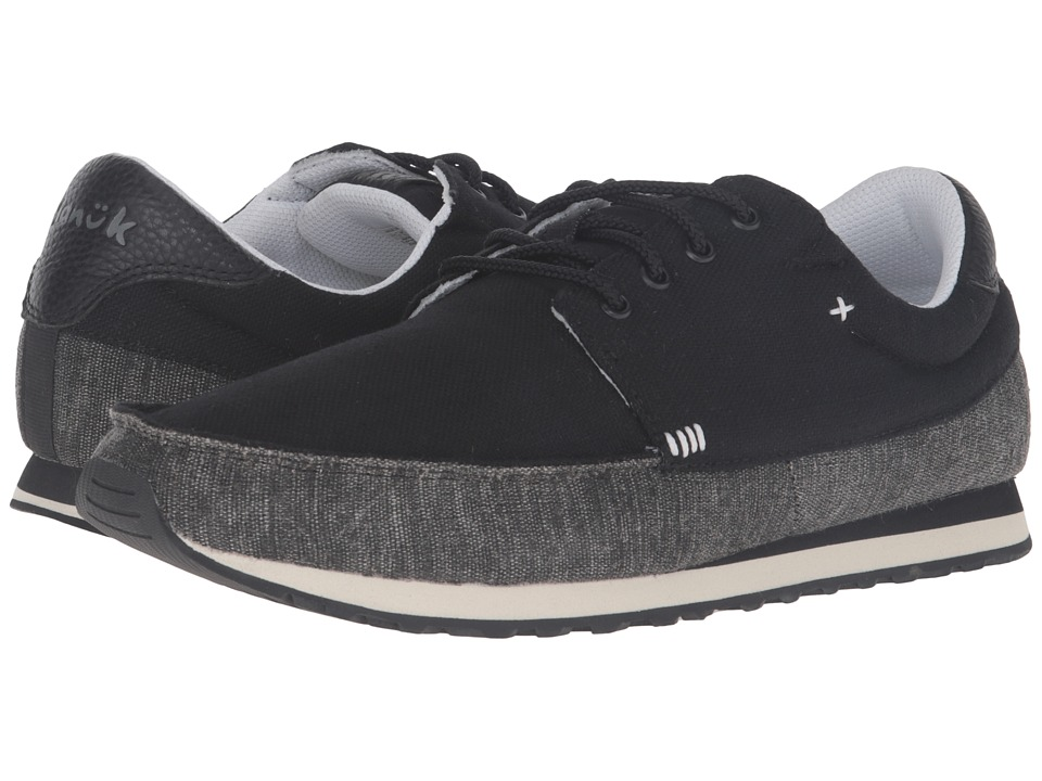 Sanuk - Beer Runner (Black) Men's Lace up casual Shoes