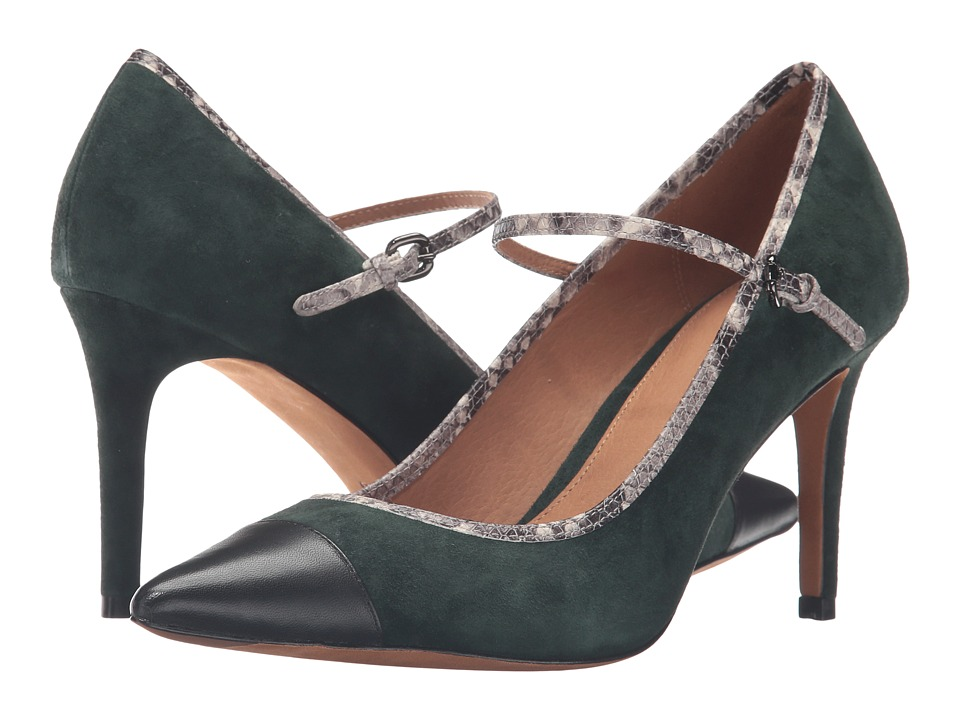 COACH - Smith Mary Jane (Racing Green/Black) High Heels