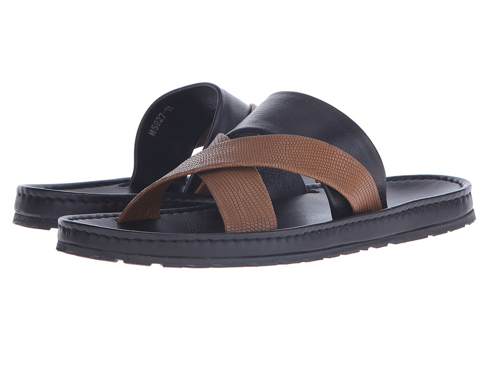 Massimo Matteo - X w/ Slide (Tan) Men's Sandals