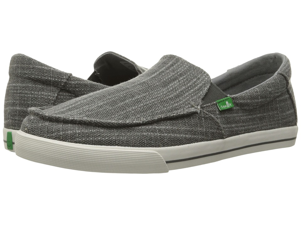 Sanuk - Sideline TX (Charcoal Heavy Slub) Men's Slip on Shoes