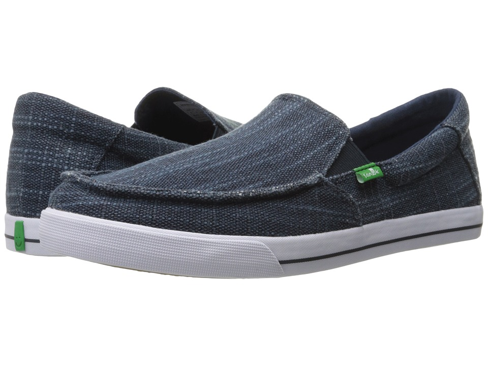 Sanuk - Sideline TX (Navy Heavy Slub) Men's Slip on Shoes
