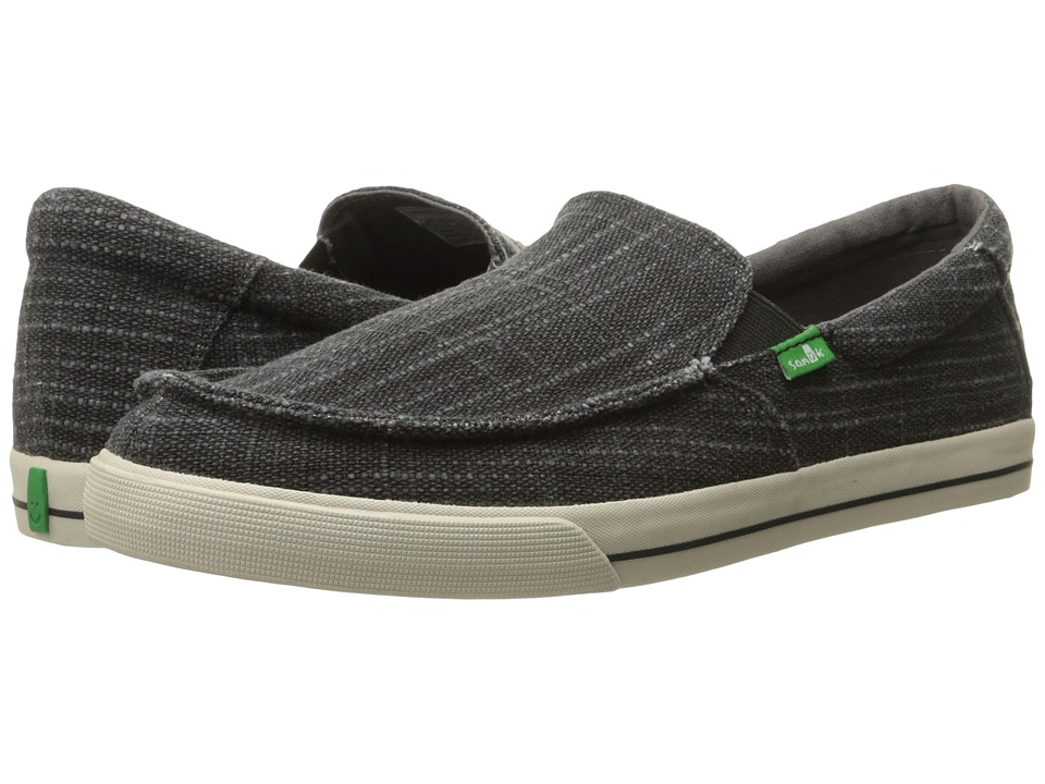 Sanuk - Sideline TX (Black Heavy Slub) Men's Slip on Shoes