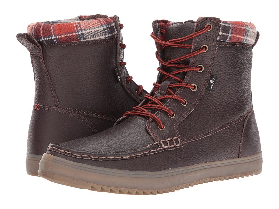 Sanuk - Statton Deluxe (Dark Brown) Men's Lace-up Boots